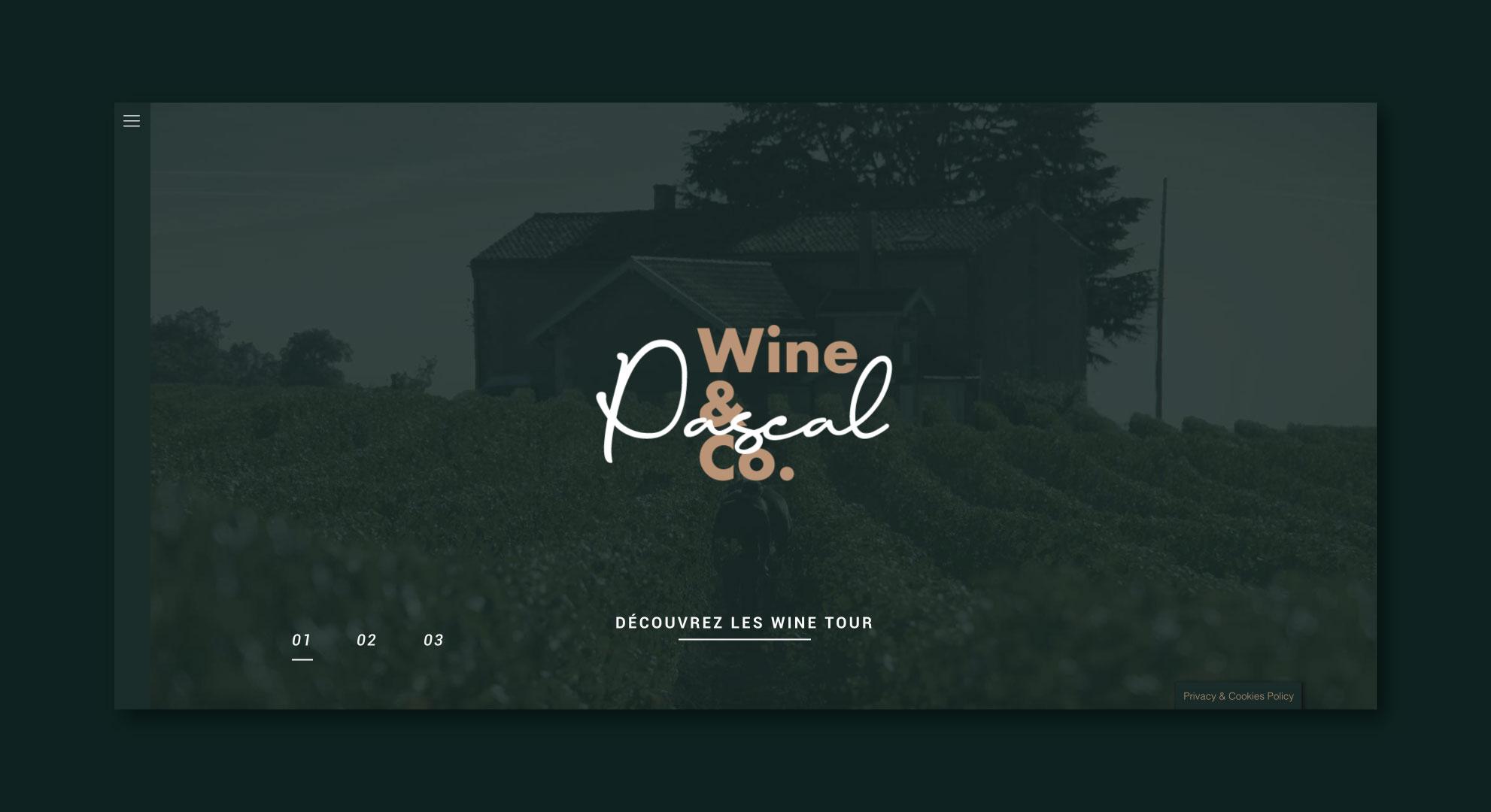 La Home Page du site web